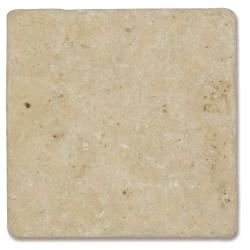 Carrelage pierre Travertin vieilli beige Mix 10x10 cm - 0.5m²