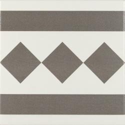 Carrelage de bordure 20x20 cm ANTIGUA GRIS - 1m²