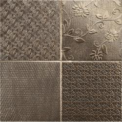 Carrelage style ciment faience précieuse effet metal GLINT ORO 44x44 cm - 1.37m²