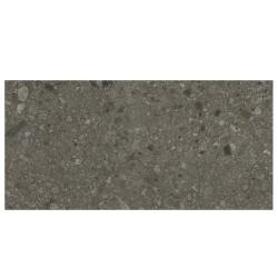 Carrelage anthracite imitation pierre rectifié 60x120cm HANNOVER BLACK -R10- 1.44m²