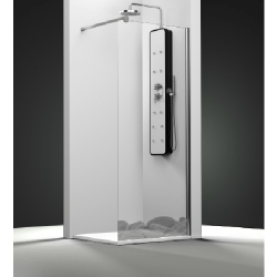 Paroi de douche fixe 1 panneau - Décor Galets Zen