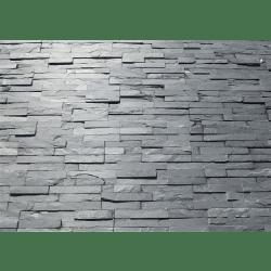 Parement extérieur pierre naturelle Ardoise barrettes 35x18 cm - 0.57m²
