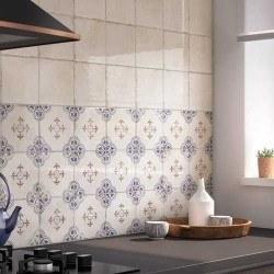 Faience azulejos andalous RACINE DECOR 15x15 cm - 1m²