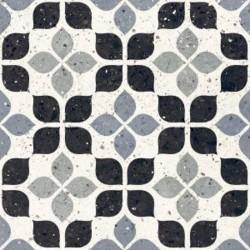 Carrelage à motif effet terrazzo bleu 20x20 cm AZZURRO FIORE - 1.16m²
