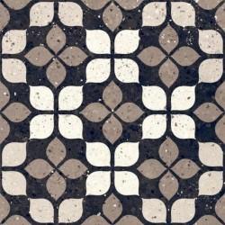 Carrelage à motif effet terrazzo 20x20 cm Nero FIORE - 1.16m²