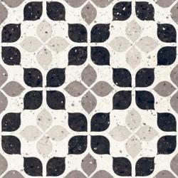 Carrelage à motif effet terrazzo 20x20 cm BIANCO FIORE - 1.16m²