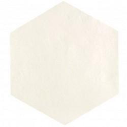 Carrelage tomette blanc 22.5x26cm CONCRET LONDRES - 0.66m²