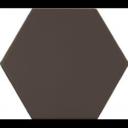 Carrelage hexagonal marron foncé KROMATIKA BROWN R10 11.6x10.1 - 26470 - 0.43 m²