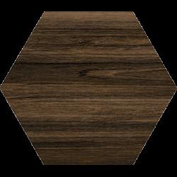 Carrelage grand format HEXAGONO BELICE NOCE 51.9x59.9 cm - 0.93 m²