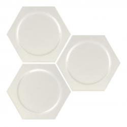 Carrelage hexagonal décors ronds INTUITION WHITE CIRCLE 25x30 cm - 0.935m²