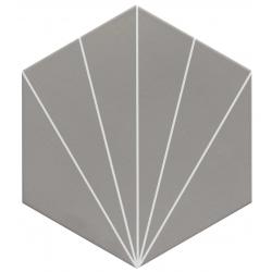 Carreau tomette gris dandelion 33x28.5 VENUS Smoke - 1m²