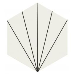Carreau tomette blanc dandelion 33x28.5 VENUS WHITE - 1m²