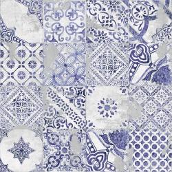 Carrelage imitation azulejo Ozone blue decor 60x60 - Rectifié - 1,773m²
