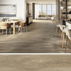 Carrelage imitation parquet rectifié vieilli mat 20x120 BELFAST TEAK R10 - 0.96 m²