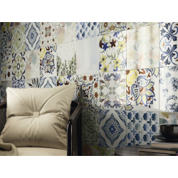 Carrelage imitation ciment aux motifs aléatoires - MICHIQ 25X25 - 0.63m²