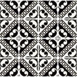 Carrelage imitation ciment noir et blanc 20x20 cm Paris VIVIENNE NERO - 1.16 m²