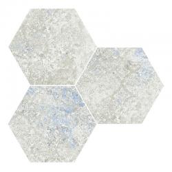 Carrelage hexagonal décoré - EMOTION GREY NAT- 25x30 cm - 0.935m²