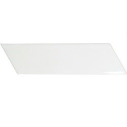 Chevron Wall blanc brillant ou mate 18,6x5,2 cm - 0.5m²