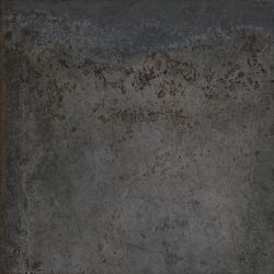Carrelage effet métal oxydé pleine masse - ALCHIMIA NOIR 80X80 - Rectifié R9 - 1.28m²
