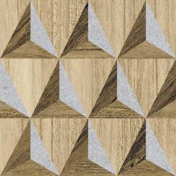 Carrelage aspect bois décoré - KOMI NOKREK-R 20X20 - 1m²