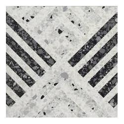 Carrelage imitation terrazzo décoré 60x60cm DECOR Rectifié - 1.08m²