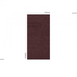 Papier peint design auto adhésif PANORAMIQUE - Brick Berenjena - plusieurs dimensions