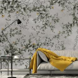 Papier peint design auto adhésif PANORAMIQUE - Flower Wall - plusieurs dimensions