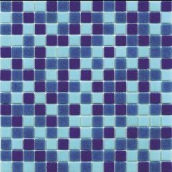 Mosaique piscine Mix de Bleu Deep Swimming 32.7x32.7 cm - 2.14m²