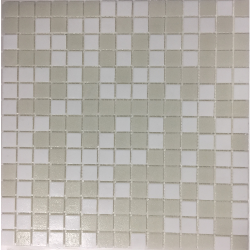 Mosaique piscine Mix de Blanc Neige NEVE 32.7x32.7 cm - 2.14m²