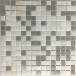 Mosaique piscine Mix beige gris blanc NUVOLA 32.7x32.7 cm - 2.14m²