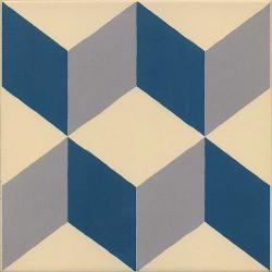 Carrelage imitation ciment cube 20x20 cm GUELL - 1m²
