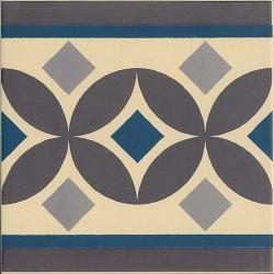 Carrelage imitation ciment bordure 20x20 cm GUELL-2 - 1m²