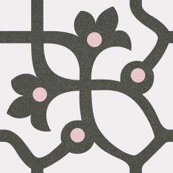 Carrelage imitation ciment anthracite et rose 20x20 cm JUJOL - 1m²