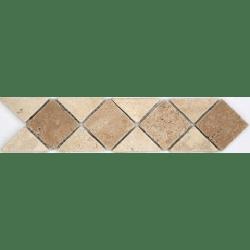 Frise pierre 512 Travertin Beige - Travertin Noce 28.5x7 cm - unité