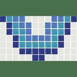 Frise piscine ondulation azur 31x18 cm 2002871 Cenefa 13 - unité