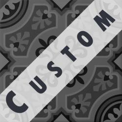 Carreau imitation ciment personnalisable 20x20 cm CUSTOM ARABESQUE R9 - 0.96m²