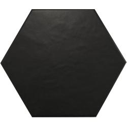 Carrelage hexagonal 17,5x20 HEXATILE NOIR MAT 20338 - 0.71m²
