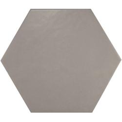 Carrelage hexagonal 17.5x20 Tomette design HEXATILE GRIS UNI 20340 0.71m² Equipe
