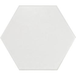 Carrelage hexagonal 17.5x20 Tomette design HEXATILE - BLANC CASSE MAT 20339 0.71m² Equipe