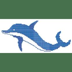 Décor piscine dauphin bleu 333x133 cm - unité Onix