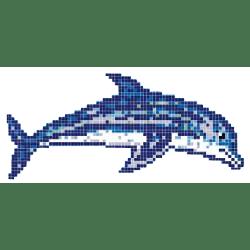 Décor piscine bébé dauphin 200x100 cm - unité