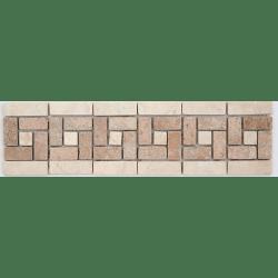 Frise 505 Travertin Arizona - Marbre Beige 28.5x7 cm - unité