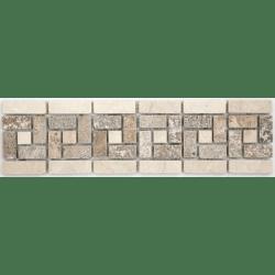 Frise pierre 505 Travertin Noce - Marbre Beige 28.5x7 cm - unité