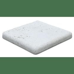 Margelle angle sortant travertin beige vieilli 33x33x5cm - unité