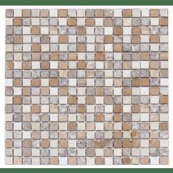 Mosaique marbre multicouleur 2 1.5x1.5 cm - unité Barwolf