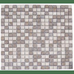 Mosaique marbre multicouleur 1 1.5x1.5 cm - unité
