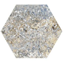 Carrelage tomette décors vieillis CARPET VESTIGE NATURAL HEXAGON 25x29 cm - R9 - 0.935m²