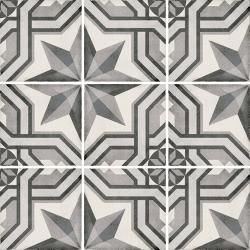 Carrelage style ciment 20x20 cm ART NOUVEAU CINEMA GREY 24414 - 1m²