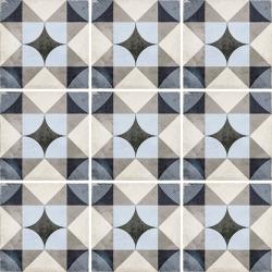Carrelage style ciment 20x20 cm ART NOUVEAU PALAIS BLUE 24410 - 1m²