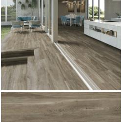 Carrelage imitation parquet rectifié vieilli mat 29.5x120 BELFAST WALNUT R10 - 1.06 m² Baldocer